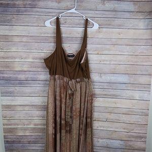 Mlle Gabrielle Brown Dress Plus Size 24w